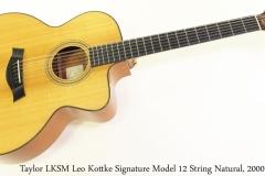 Taylor LKSM Leo Kottke Signature Model 12 String Natural, 2000 Full Front View