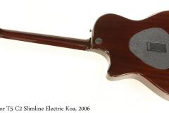 Taylor T5 C2 Slimline Electric Koa, 2006 Full Rear View