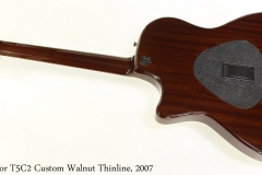 Taylor T5C2 Custom Walnut Thinline, 2007 Full Rear View