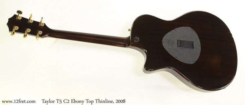 Taylor T5 C2 Ebony Top Thinline, 2008 Full Rear View