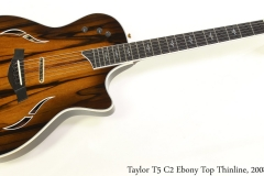 Taylor T5 C2 Ebony Top Thinline, 2008 Full Front View