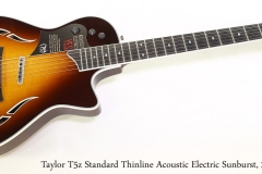 Taylor T5z Standard Thinline Acoustic Electric Sunburst, 2016  Full Front View