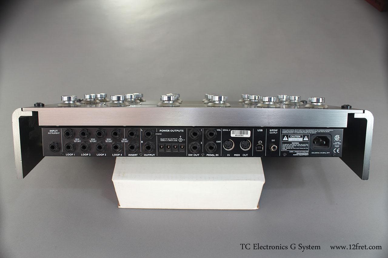 TC Electronics G System back panel