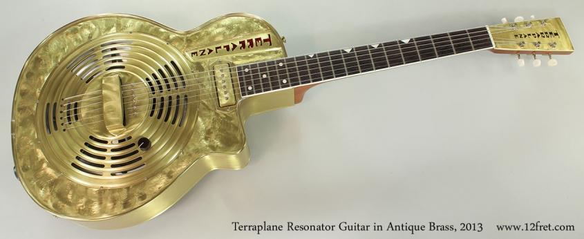 Terraplane Resonator Guitar in Antique Brass, 2013 Full Front View