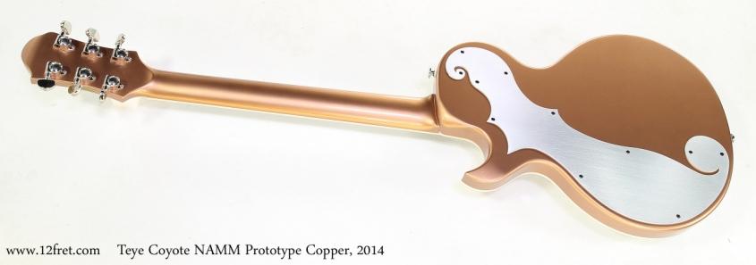 Teye Coyote NAMM Prototype Copper, 2014   Full Rear View
