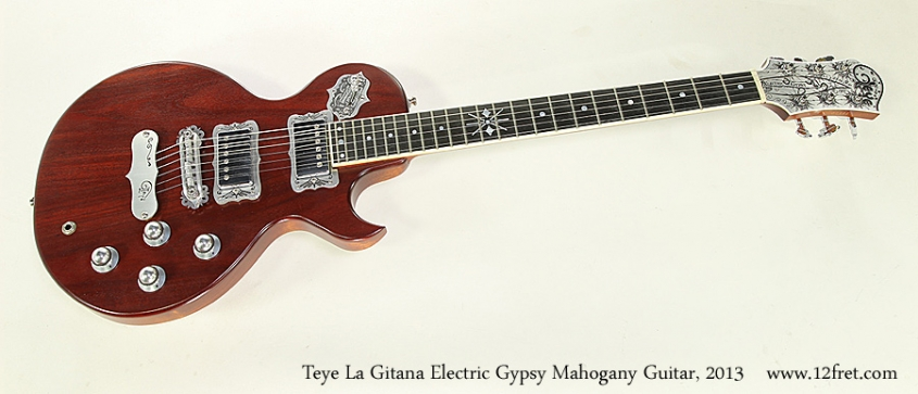 Teye La Gitana Electric Gypsy Mahogany Guitar, 2013  Full Front View