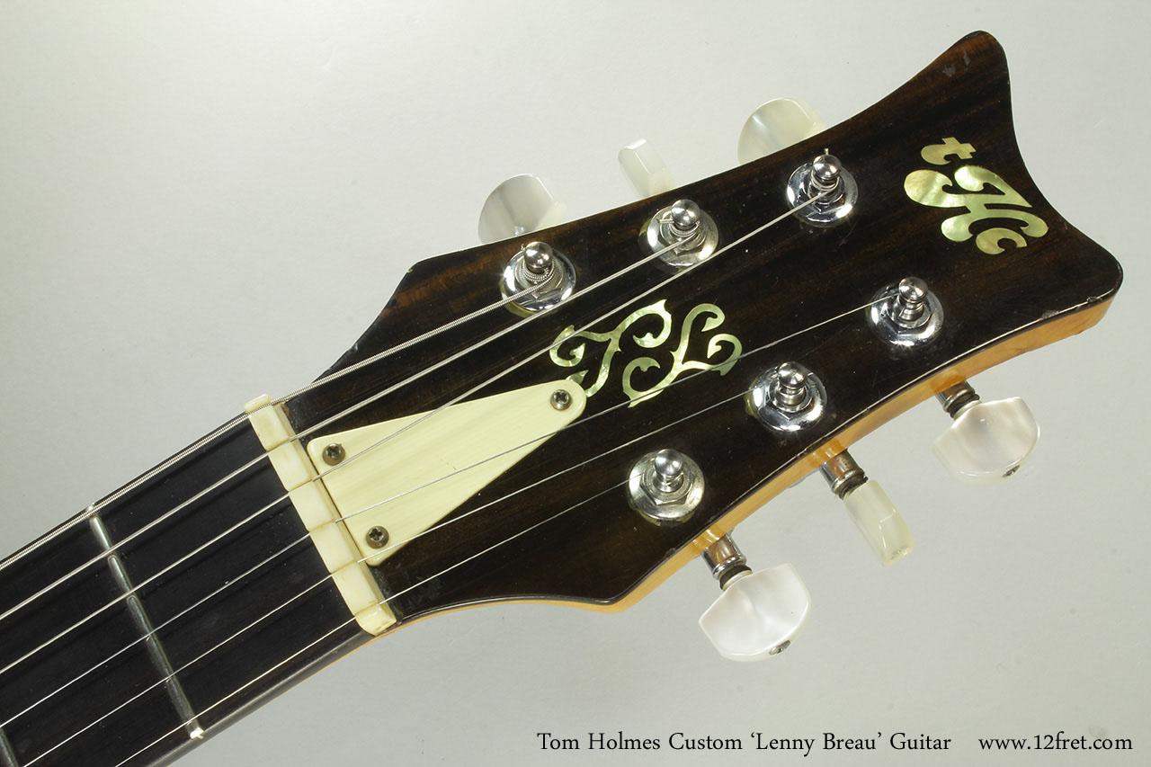 Tom Holmes Custom 'Lenny Breau' Guitar Head Front View