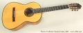 Thomas Fredholm Classical Guitar, 2007 Full Front VIew