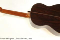 Thomas Malapanis Classical Guitar, 2004 Full Rear View