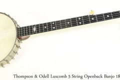 Thompson & Odell Luscomb 5 String Openback Banjo 1890s Full Front View