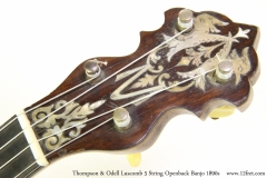 Thompson & Odell Luscomb 5 String Openback Banjo 1890s Head Front View