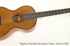 Stephan Thumhart Romantic Guitar, Munich 1820 Full Front View