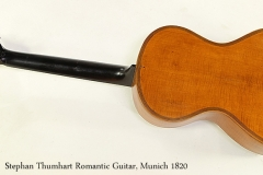 Stephan Thumhart Romantic Guitar, Munich 1820 Full Rear View