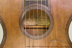 Stephan Thumhart Romantic Guitar, Munich 1820 Maker Label View