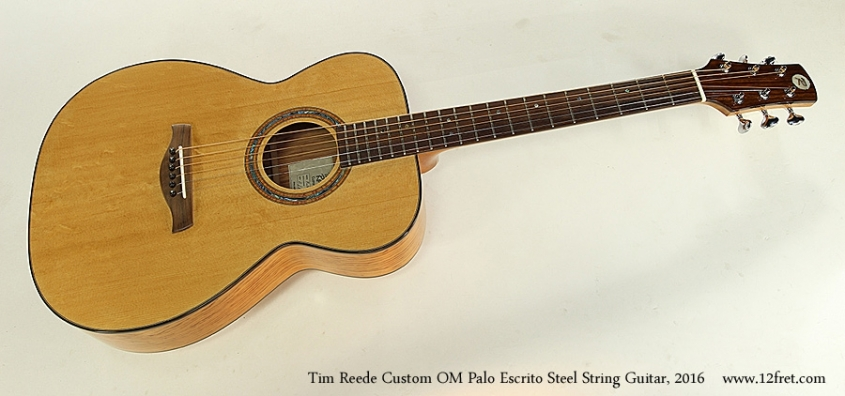 Tim Reede Custom OM Palo Escrito Steel String Guitar, 2016 Full Front View