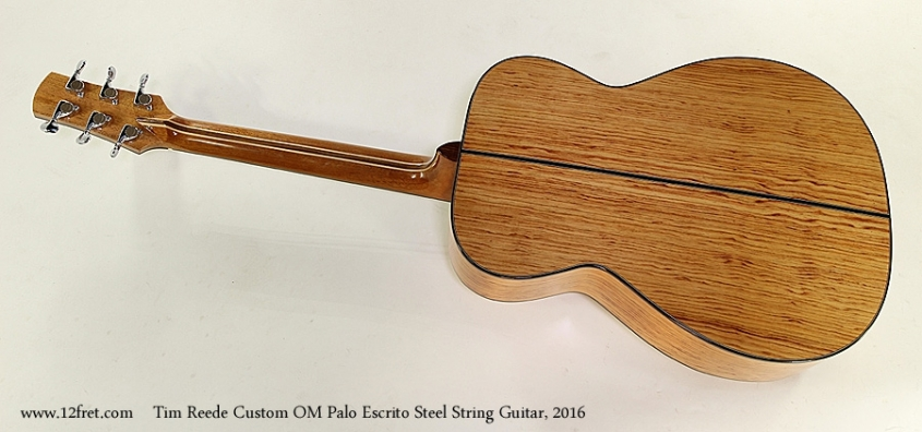 Tim Reede Custom OM Palo Escrito Steel String Guitar, 2016 Full Rear View
