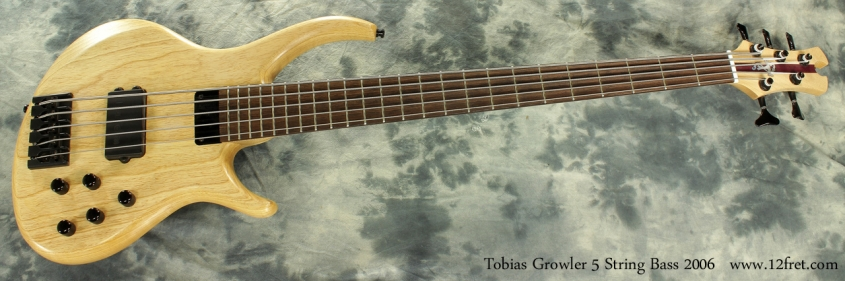Tobias Growler 5 String Bass 2006 full front view