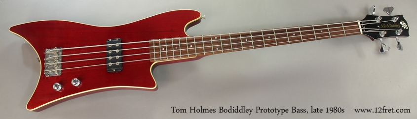 Tom Holmes Bodiddley Prototype Bass, late 1980s Full Front VIew