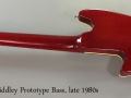 Tom Holmes Bodiddley Prototype Bass, late 1980s Full Rear VIew
