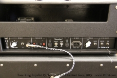 Tone King Royalist 15 Head and 1x12 Cabinet Grey, 2015  Rear Panel View
