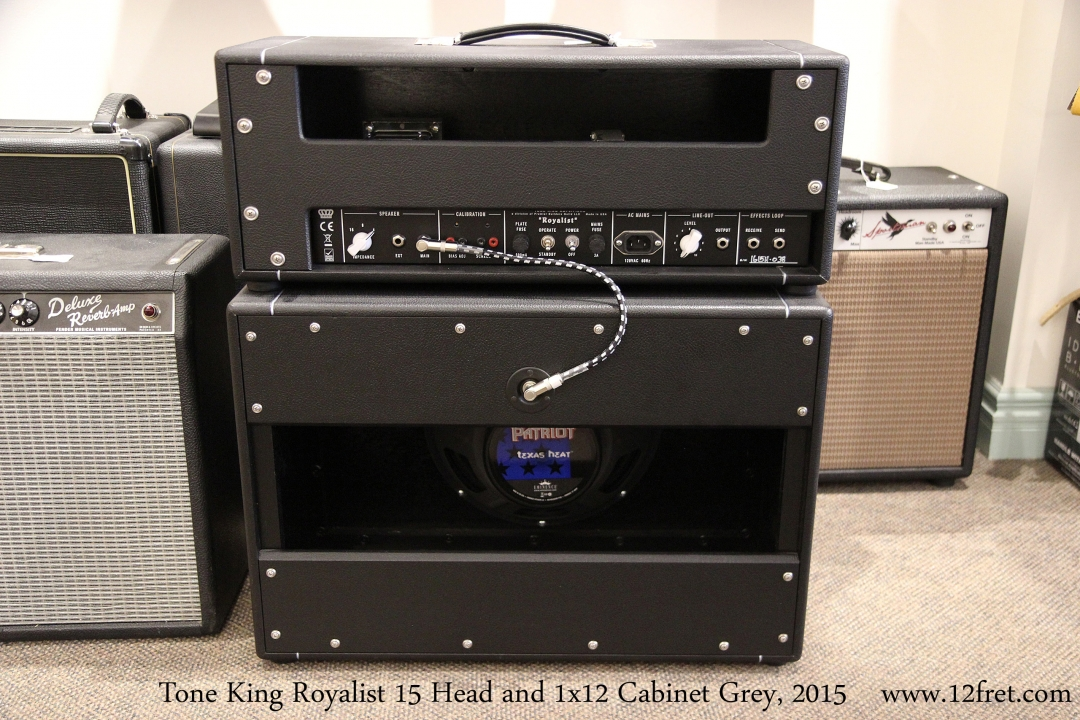 Tone King Royalist 15 Head and 1x12 Cabinet Grey, 2015  Full Rear View