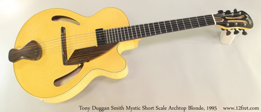 Tony Duggan Smith Mystic Short Scale Archtop Blonde, 1995 Full Front View