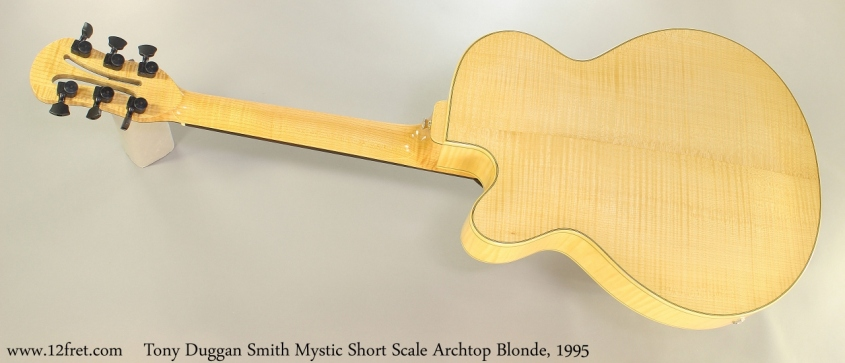 Tony Duggan Smith Mystic Short Scale Archtop Blonde, 1995 Full Rear View