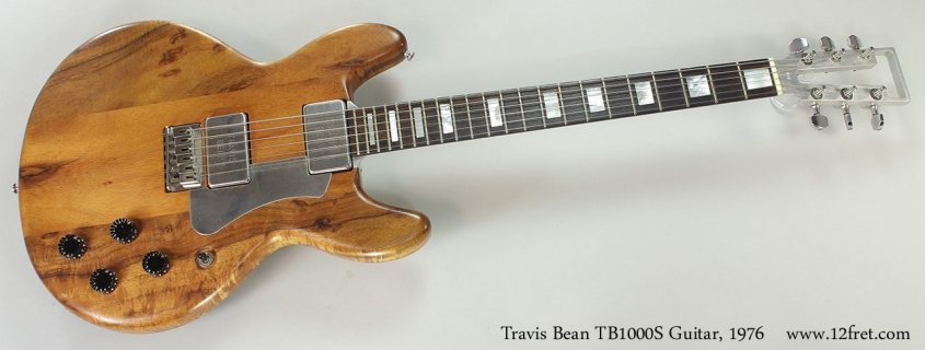 Travis Bean TB1000S Guitar, 1976 Full Front View