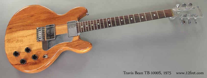 Travis Bean TB-1000S 1975 Full Front View
