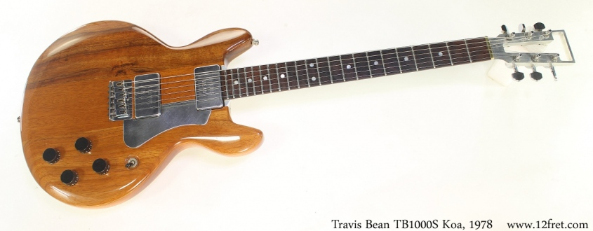 Travis Bean TB1000S Koa, 1978 Full Front View