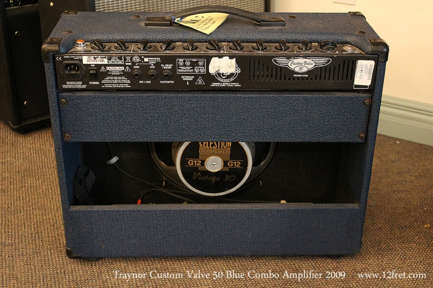 Traynor Custom Valve 50 Blue Combo Amplifier 2009 Full Rear View