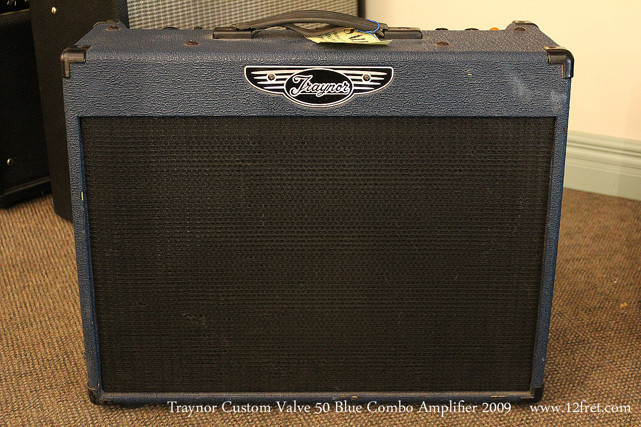 Traynor Custom Valve 50 Blue Combo Amplifier 2009 Full Front View