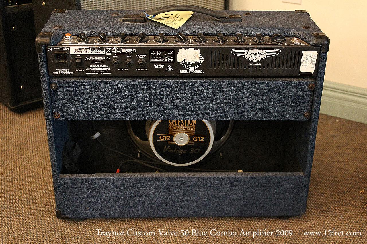 Traynor Custom Valve 50 Blue Combo Amplifier 2009 Full Rear View