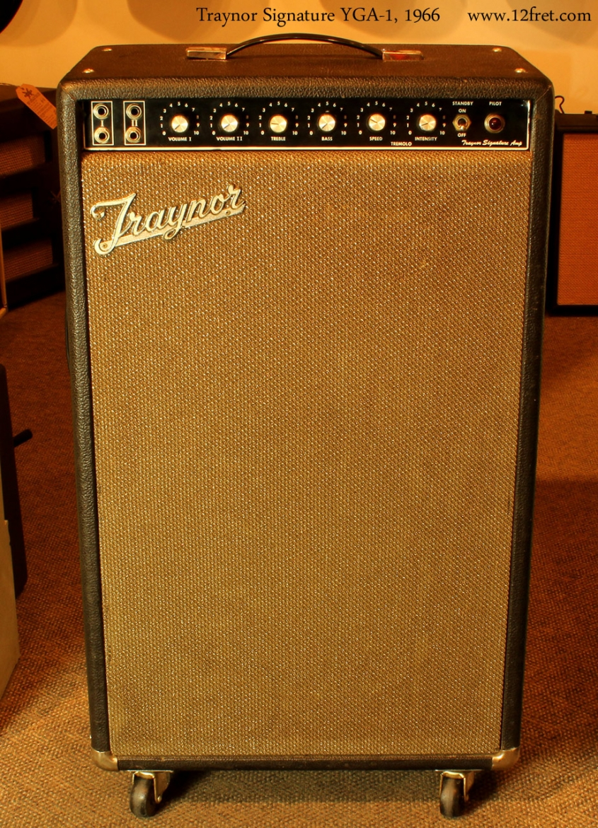"""Traynor Signature YGA-1 100 watt combo with 15"""" speaker, front view1"""