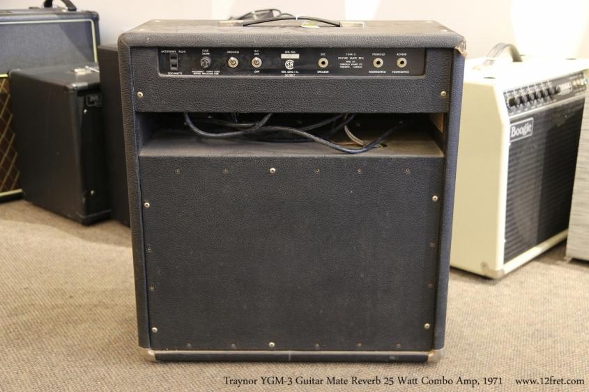 Traynor YGM-3 Guitar Mate Reverb 25 Watt Combo Amp, 1971   Full Rear VIew