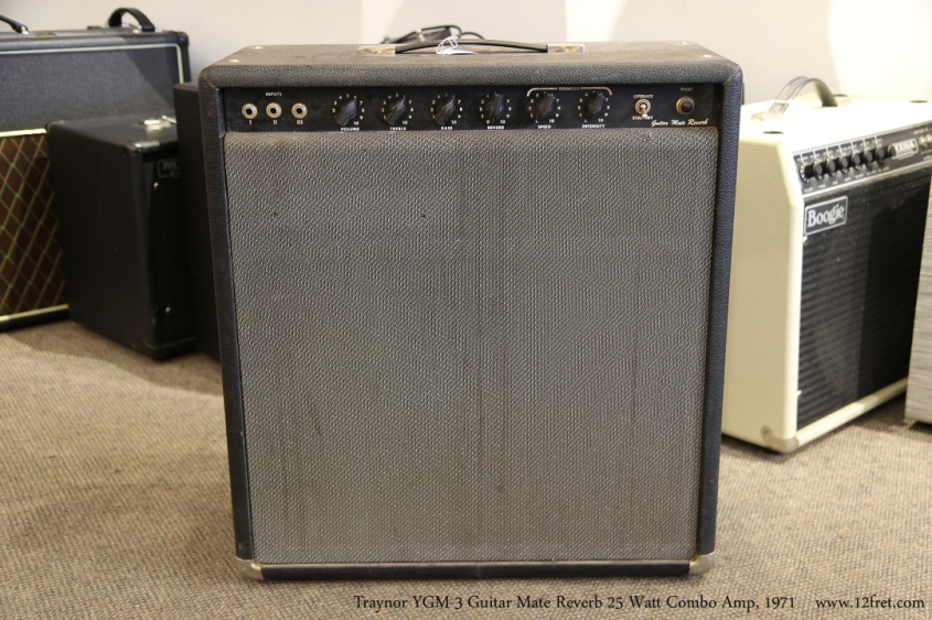 Traynor YGM-3 Guitar Mate Reverb 25 Watt Combo Amp, 1971   Full Front View