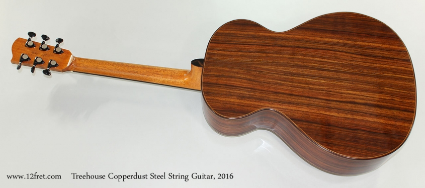 Treehouse Copperdust Steel String Guitar, 2016 Full Rear View