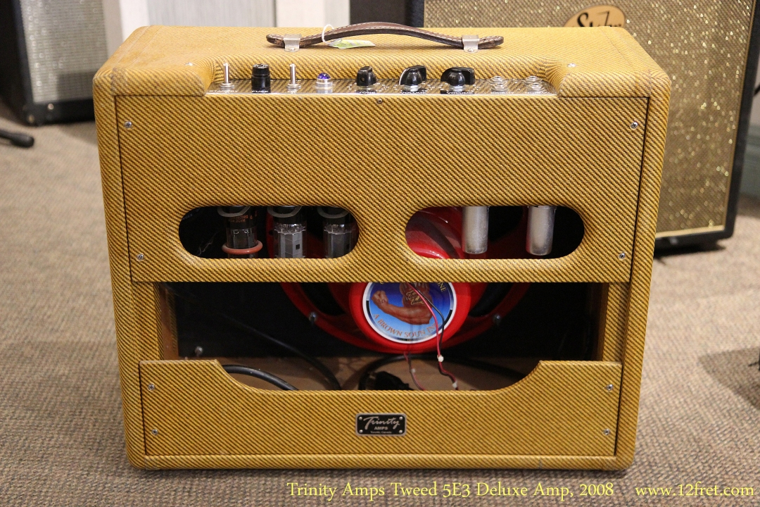 Trinity Amps Tweed 5E3 Deluxe Amp, 2008 Full Rear View