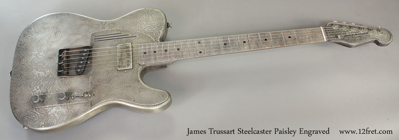 James Trussart Steelcaster Paisley Engraved Full Front View