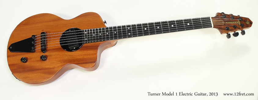Turner Model 1 Electric Guitar, 2013 Full Front View