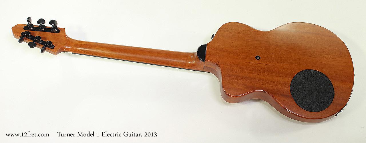 Turner Model 1 Electric Guitar, 2013 Full Rear View