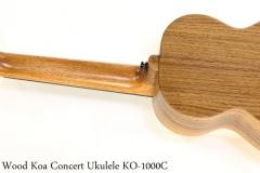 Twisted Wood Koa Concert Ukulele KO-1000C   Full Rear View