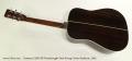 Eastman E20D-SB Dreadnought Steel String Guitar Sunburst, 2005 Full Rear View