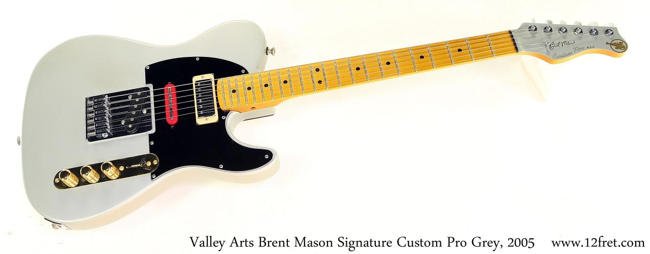 Valley Arts Brent Mason Signature Custom Pro Grey, 2005 Full Front View