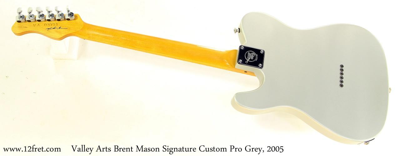 Valley Arts Brent Mason Signature Custom Pro Grey, 2005 Full Rear View