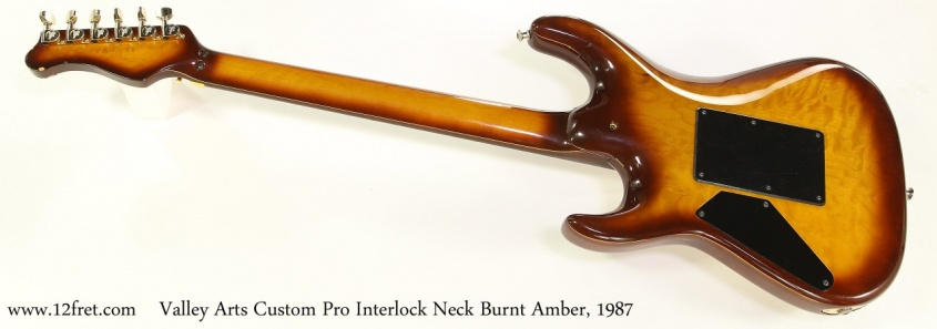 Valley Arts Custom Pro Interlock Neck Burnt Amber, 1987 Full Rear View