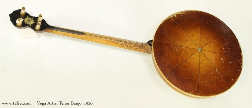 Vega Artist Tenor Banjo, 1926  Full Rear View