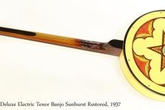 Vega Deluxe Electric Tenor Banjo Sunburst Restored, 1937 Full Rear View