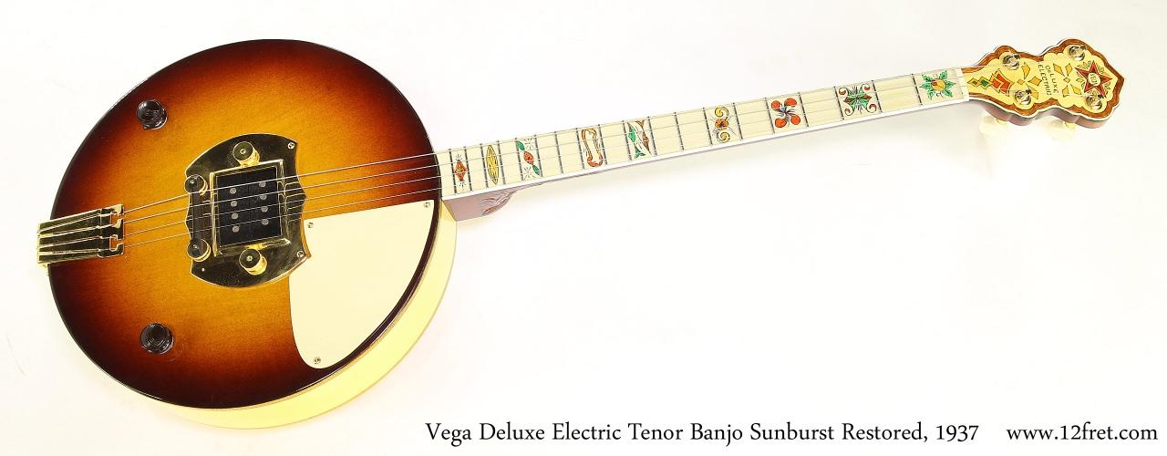 Vega Deluxe Electric Tenor Banjo Sunburst Restored, 1937 Full Front View