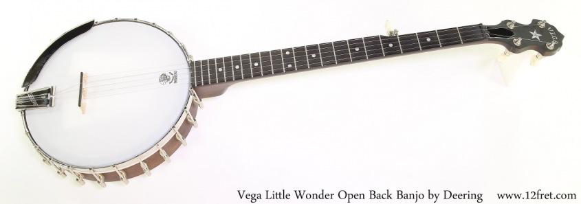 Vega Little Wonder Open Back Banjo by Deering Full Front View